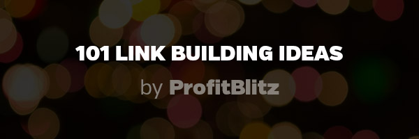 101 Link Building Ideas