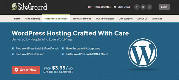 WordPress Hosting from SiteGround