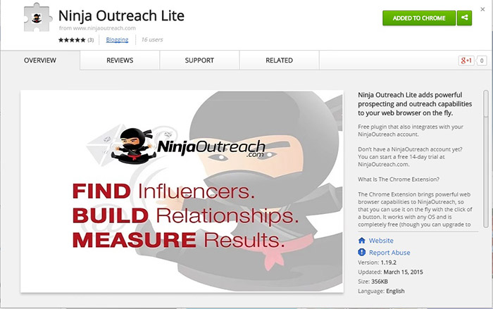 Ninja Outreach Chrome Extension