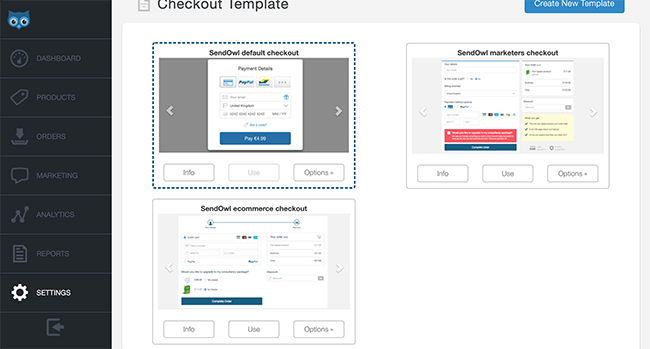 Customize the checkout page settings