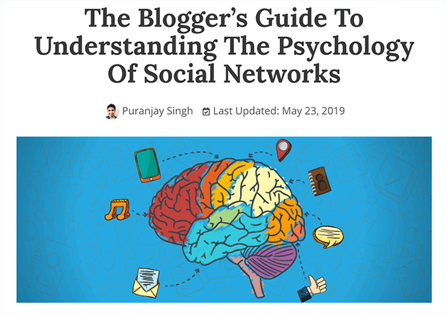 Social Media Psychology blog post