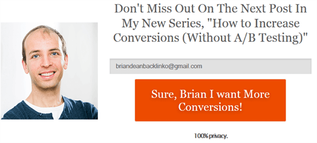 Brian Dean article about increasing conversions