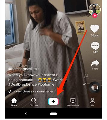 TikTok - Live streaming example