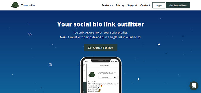 Campsite Homepage