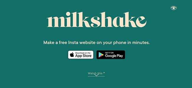 Milkshake Homepage
