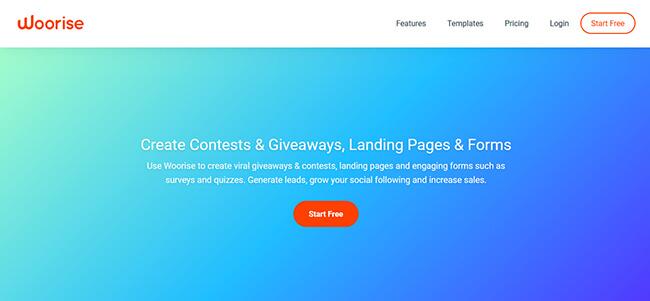 Woorise Homepage