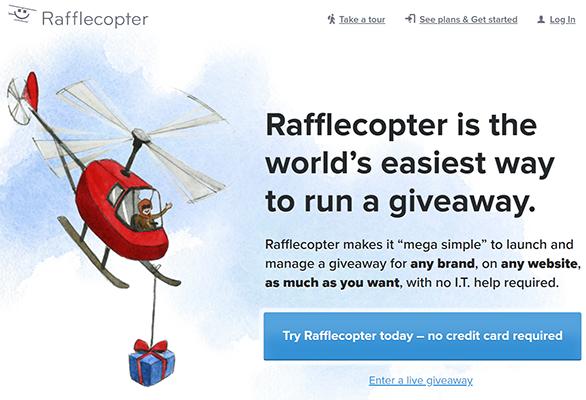 rafflecopter social media contest tool
