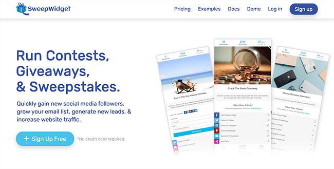 SweepWidget Homepage