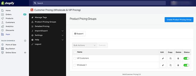 Bold Customer Pricing Shopify App