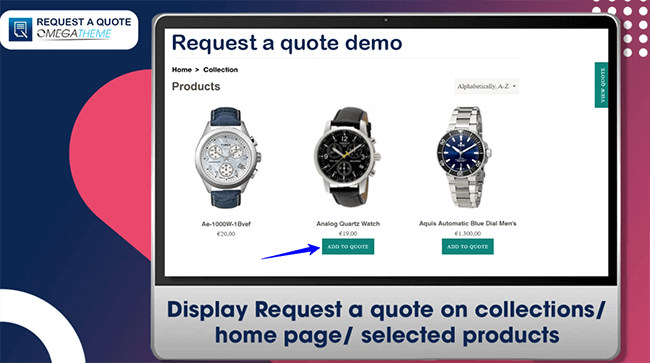 Request a Quote Shopify App