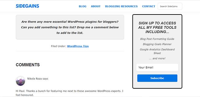 Websites with no social sharing plugin