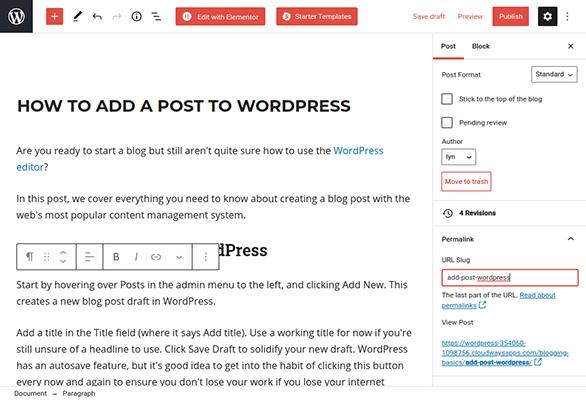 wordpress post permalink